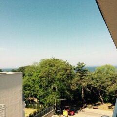 Widok na morze z balkonu